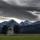 Hohenschwangau Kirche HDR by BigAl1