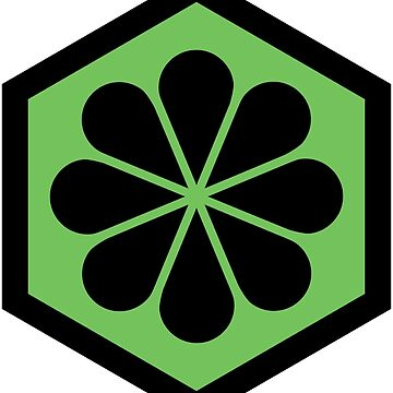 Geometric Pattern: Hexagon Flower: Green/Black by redwolfoz