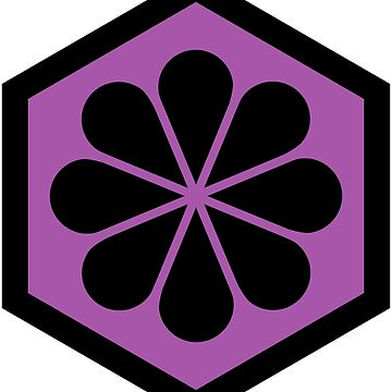 Geometric Pattern: Hexagon Flower: Purple/Black by redwolfoz
