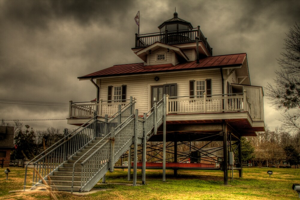 Roanoke River Light (Replica) by Terence Russell