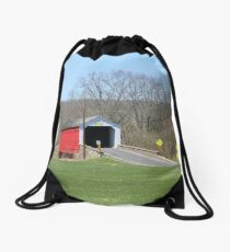 Covered Bridge Drawstring Bag