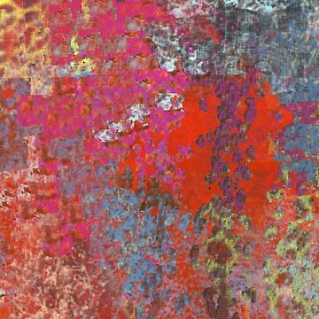 Orange, Pink, Blue, Yellow Abstract by Jessielee72
