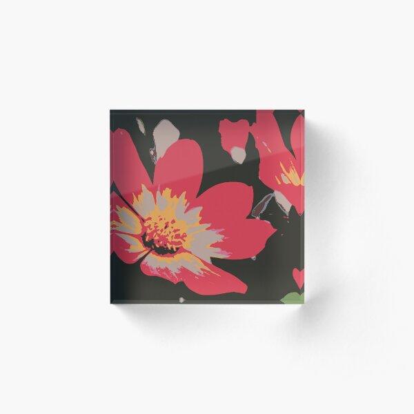 Sixties Blume Acrylblock