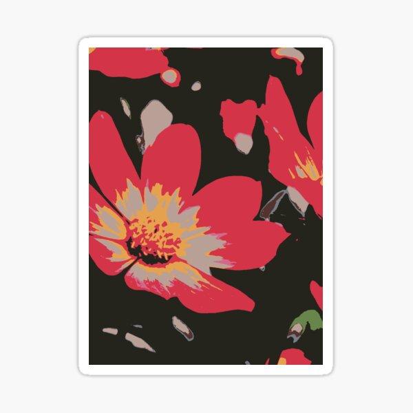 Sixties Blume Sticker