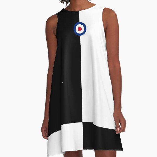 Mod Four Square Black & White with Mod Logo A-Line Dress