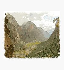 Forest and Mountain Panoramic sky Photographic Print