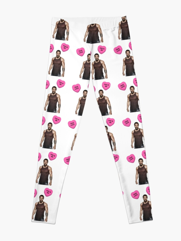 Alternate view of Jason Momoa, Valentine's day, Gifts, Presents, Cute, Love, Pink, Cool, Friendship, Romantic, Friends, Cinema, Film, Actor, Culture Leggings