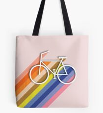 Rainbow bike Tote Bag