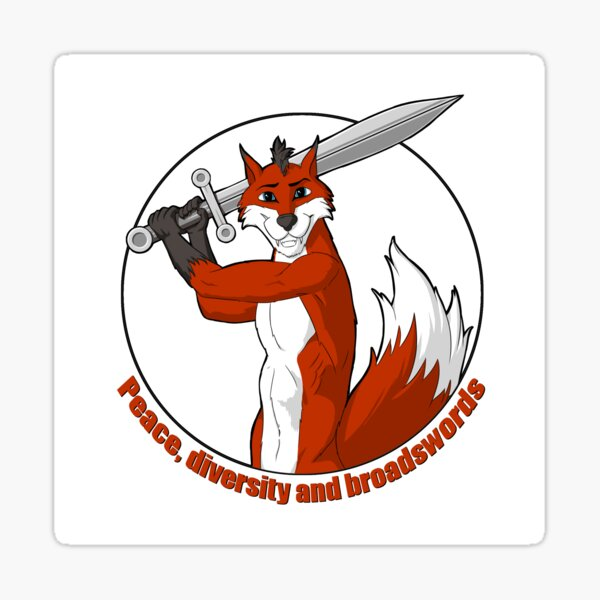 Peace, Diversity and Broadswords Sticker