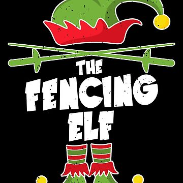 Fencing elf Christmas gift fencer pajamas by NiceTeee