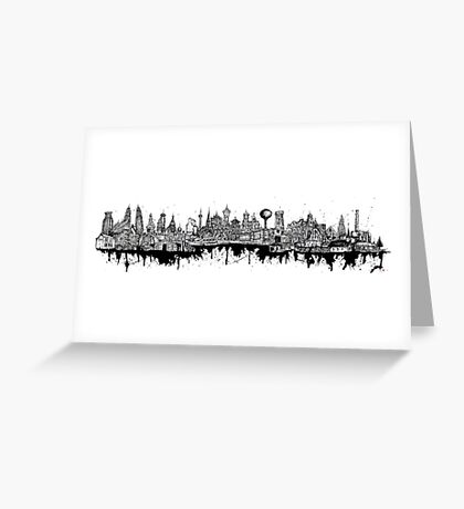 Composed Cityscape Greeting Card