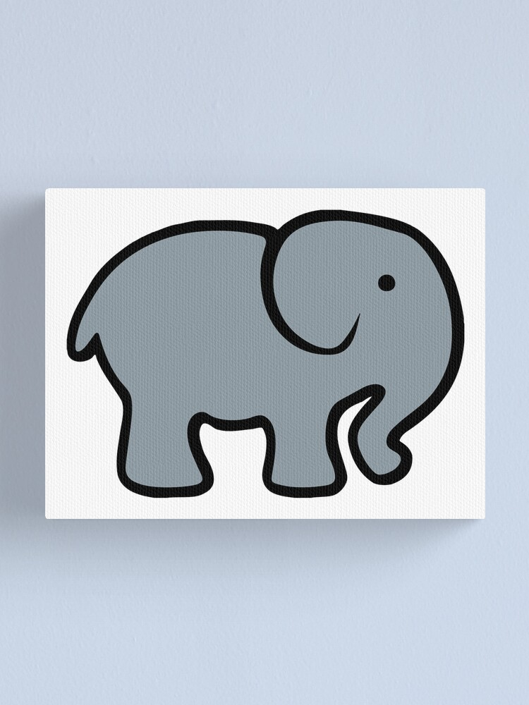 Baby Cartoon Elephant Drawing Canvas Print By Aaronisback Redbubble
