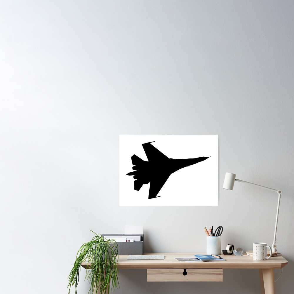 F16 Flying Jet Silhouette Poster By Aaronisback Redbubble