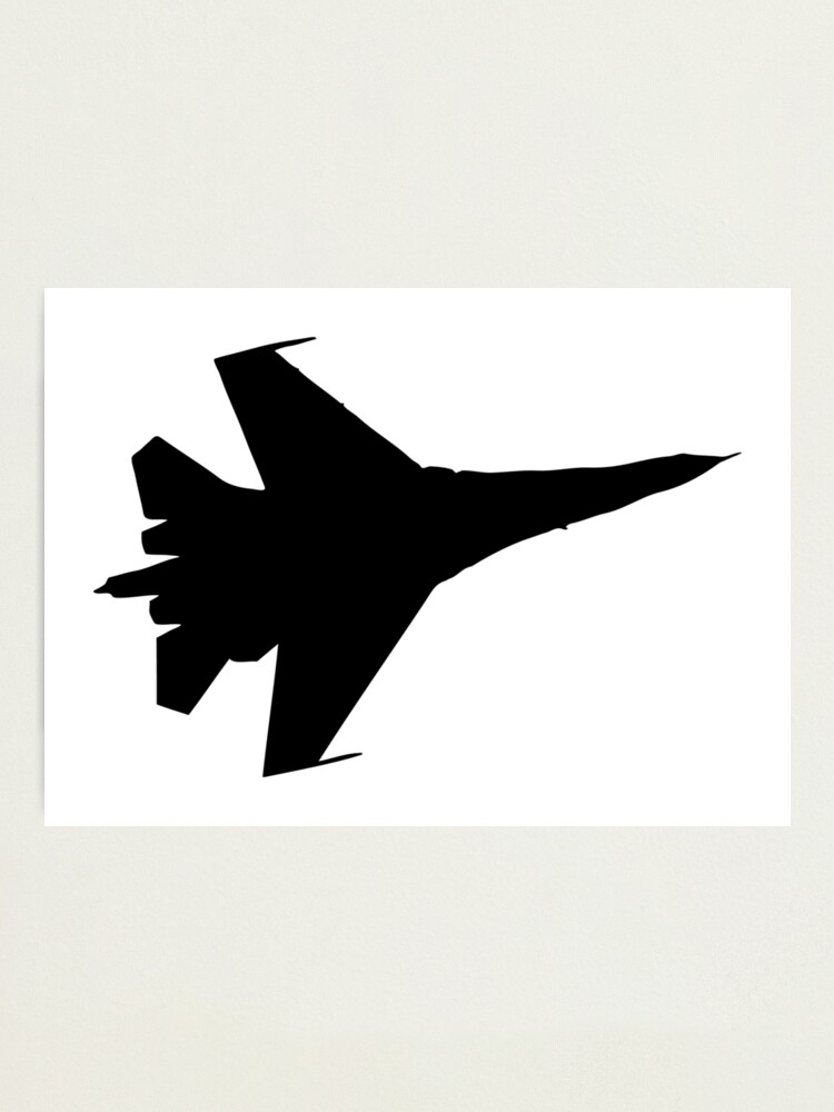 F16 Flying Jet Silhouette Photographic Print By Aaronisback Redbubble
