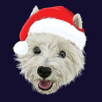 West Highland Terrier Christmas Santa Hat  by brodyquixote