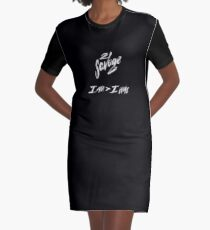 21 SAVAGE I AM > I WAS ARTWORK Graphic T-Shirt Dress