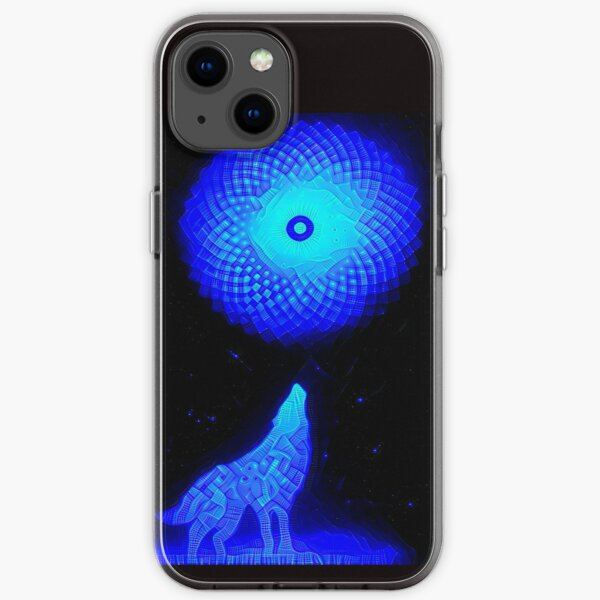 Fractal Moon Cry by Spaced Painter iPhone Soft Case