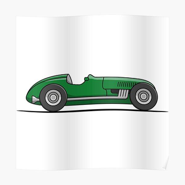 Formula 1 F1 Picture Poster Art Vintage Race Car Driving Large Framed Print