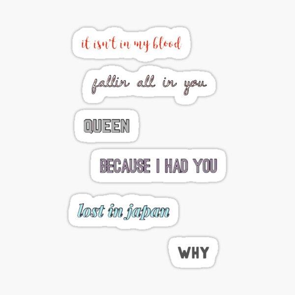 shawn lyrics  Sticker