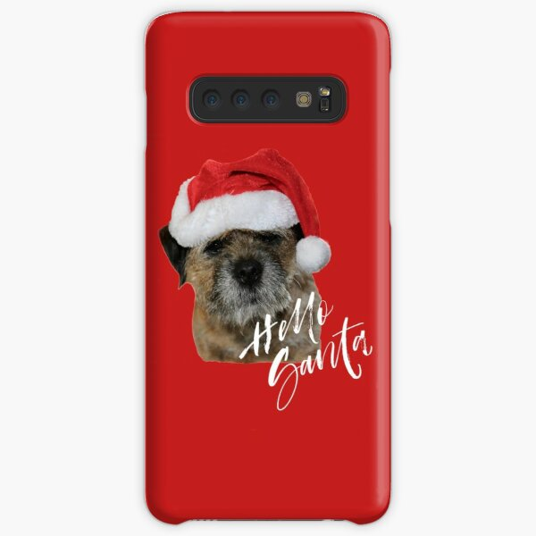 Border Terrier Cushion, Mug, Tote Bag, Sweatshirt - Hello Santa Samsung Galaxy Snap Case