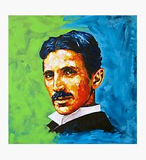 The Great Inventor - A Nikola Tesla Tribute Photographic Print
