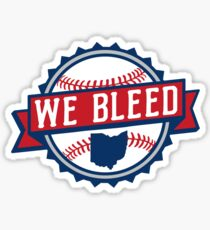 We Bleed Ohio Baseball Sticker