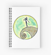 Tim Burton, Nightmare before Christmas, Drawing, Hand drawn, Design, Illustration, Tim Burton art, Sketch, Doodles, Gifts, Presents  Spiral Notebook