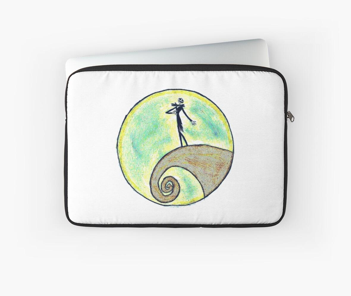 'Tim Burton, Nightmare before Christmas, Drawing, Hand drawn, Design,  Illustration, Tim Burton art, Sketch, Doodles, Gifts, Presents ' Laptop  Sleeve