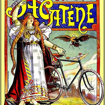 ACATENE PNEU : Vintage 1898 tire Advertising Print by posterbobs