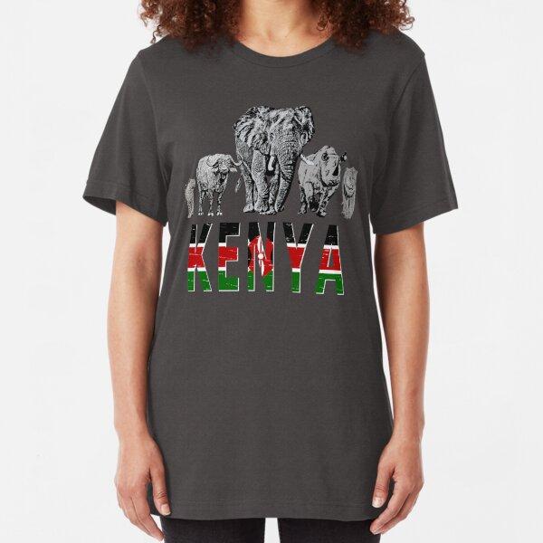 Africa's Big 5 Animals for Kenyans Slim Fit T-Shirt