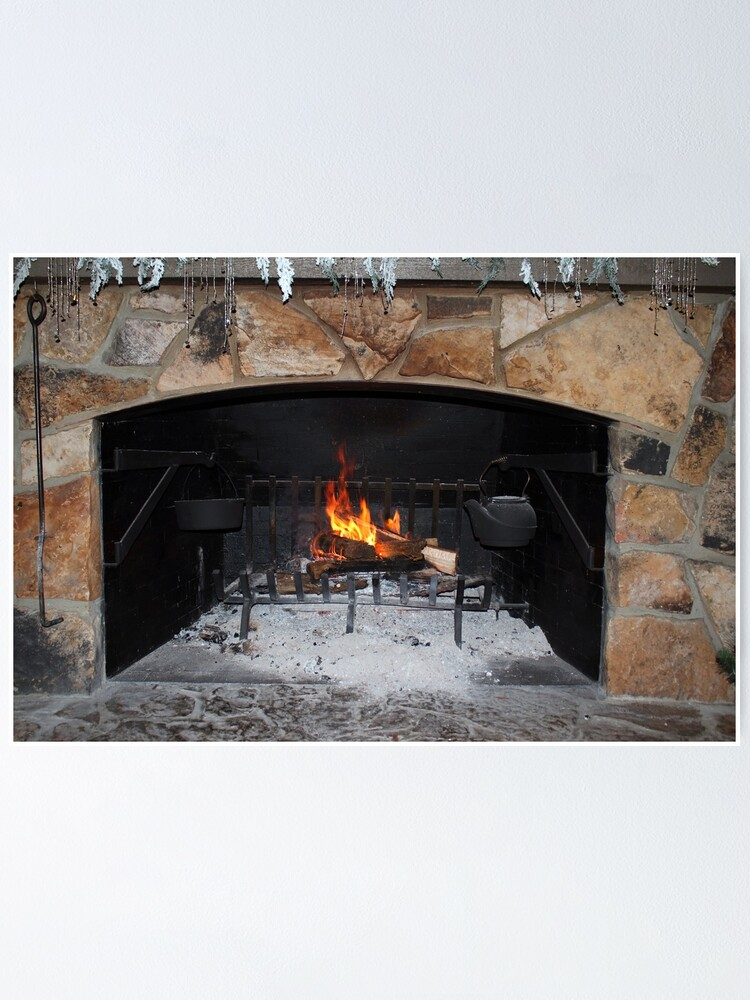 Alternate view of Warm And Cozy Fireplace Poster