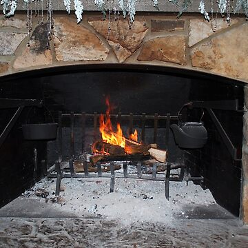 Warm And Cozy Fireplace by Cynthia48