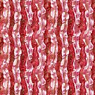 Bacon Strips Seaweed Stripe Red White Pattern by clipsocallipso
