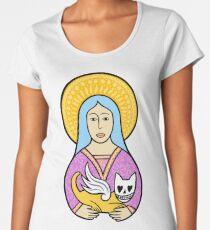 Ladies love the devil cats Premium Scoop T-Shirt
