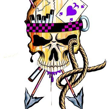 PAstel goth Pirate skull print by MOUSATNI