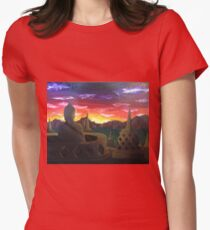 Indonesian Sunset Womens Fitted T-Shirt