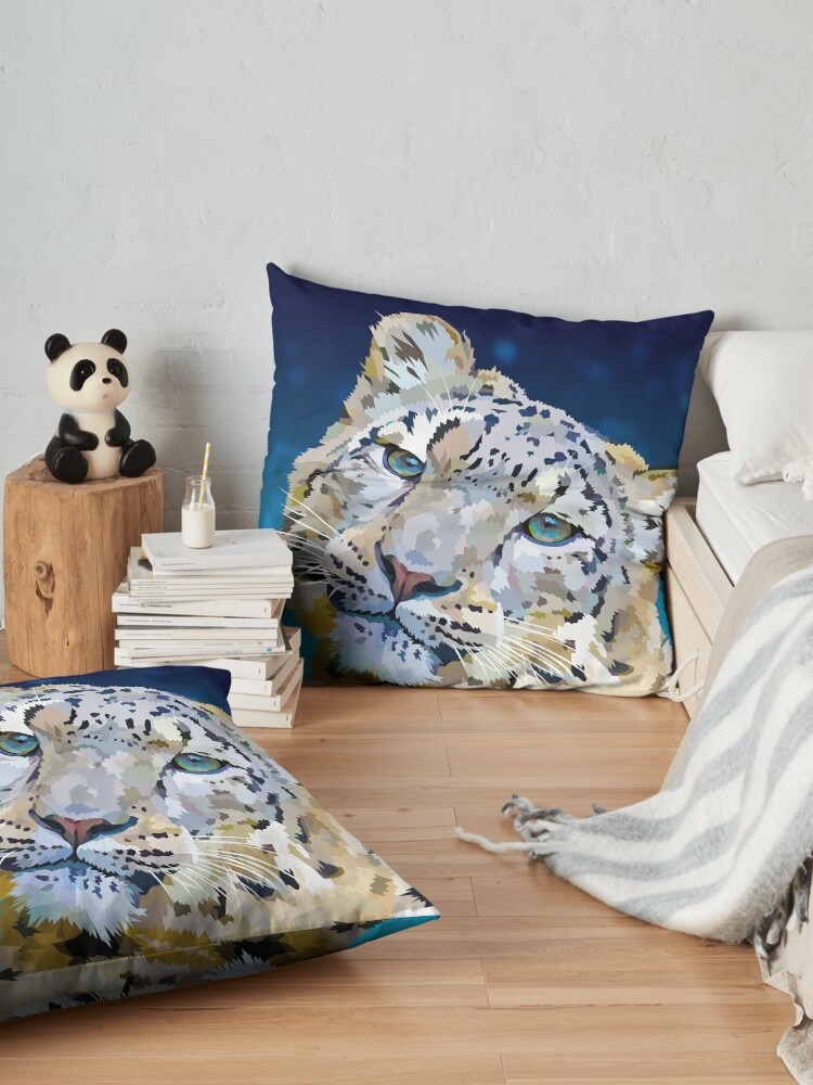 Alternate view of Snow Leopard Floor Pillow