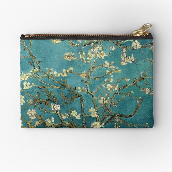 Blossoming Almond Tree, famous post  impressionism fine art oil painting by Vincent van Gogh.  Zipper Pouch