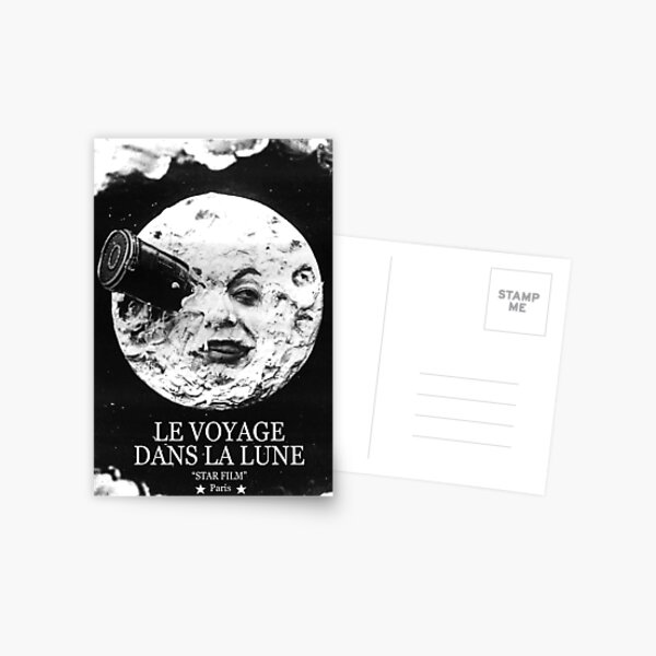 incluidas las novelas de Julio Verne De la tierra a la luna y Alrededor de la luna Postal