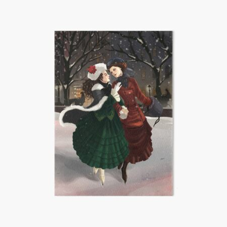 A Christmas Waltz Art Board Print