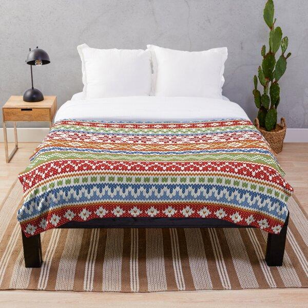 Fair Isle Multicolor Throw Blanket