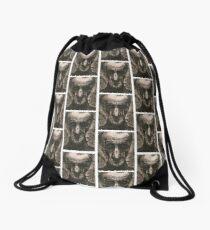 Ink Face Drawstring Bag