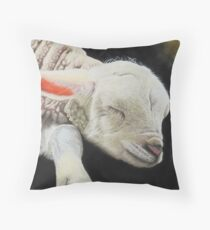 Precious lamb Throw Pillow