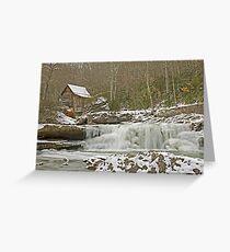 Icy Falls Greeting Card
