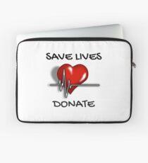Save Lives Donate Heartbeat  Laptop Sleeve