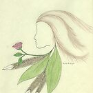 Spirit Woman and Rose by Ruth Evelyn