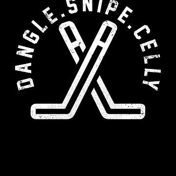 Dangle Snipe Celly Hockey Vintage Retro Shirt by BOBSMITHHHHH