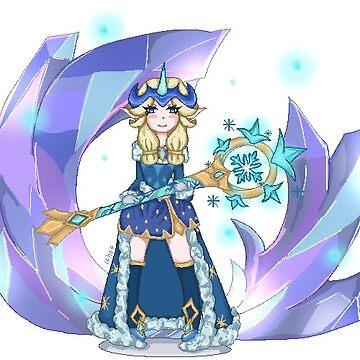 Soraka Winter Wonder Stickers - League of Legends by Ithea