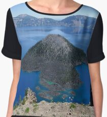 Crater Lake Volcanic Crater Oregon USA Chiffon Top