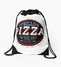 Furillo's Pizza On The Hill Drawstring Bag